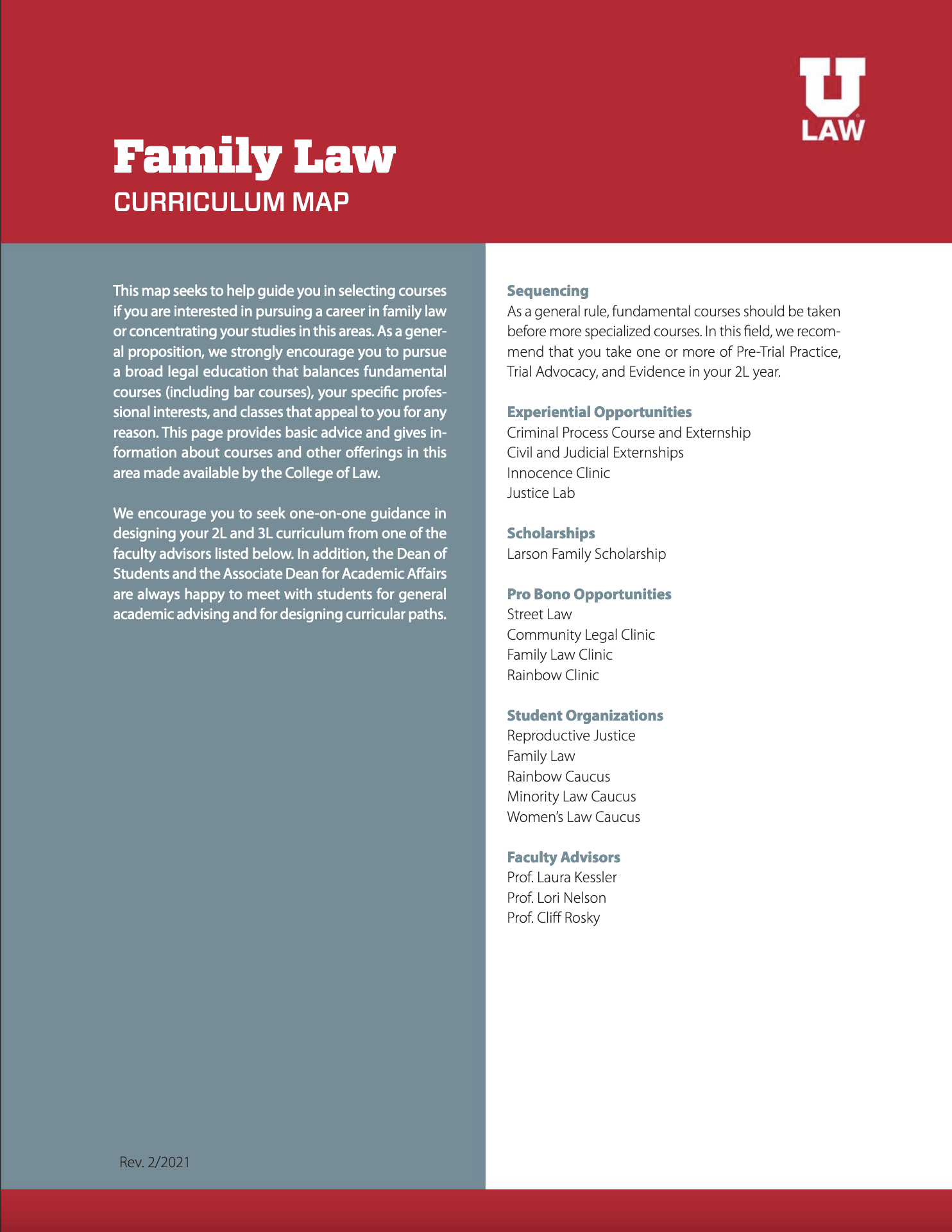 Family Law Curriculum Map