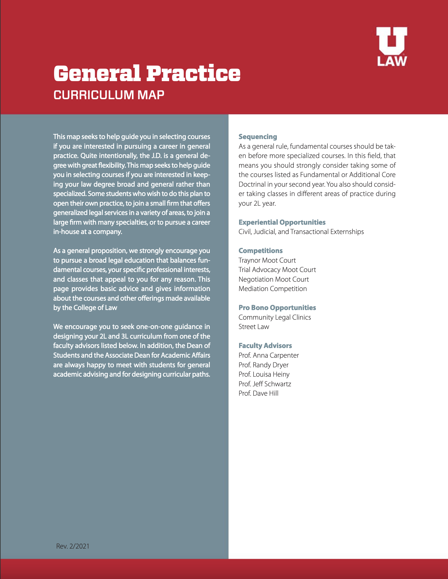 General Practice Curriculum Map